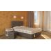 Спальный комплект SET L: Кроваткный боксс выдвижным ящиком в изножье, матрас, подушки 2 шт, пуфик и интерьерное изголовье.
