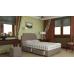 Спальный комплект SET R: кроватный бокс (4 выдвижных ящика по бокам по 2 шт, 2 подушки, пуфик, пружинный матрас и интерьерное изголовье.